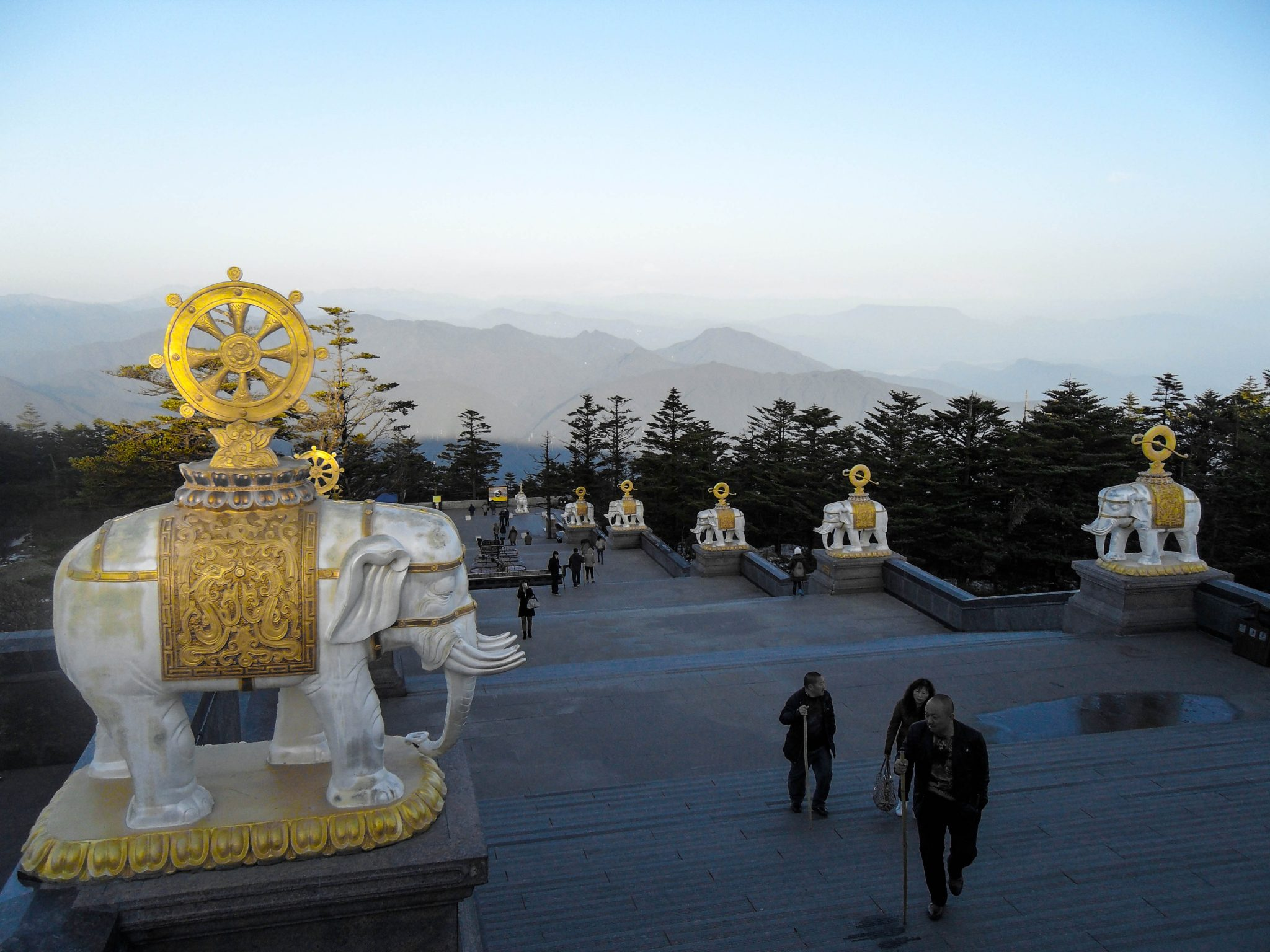 Sichuan province emei mountain peak.