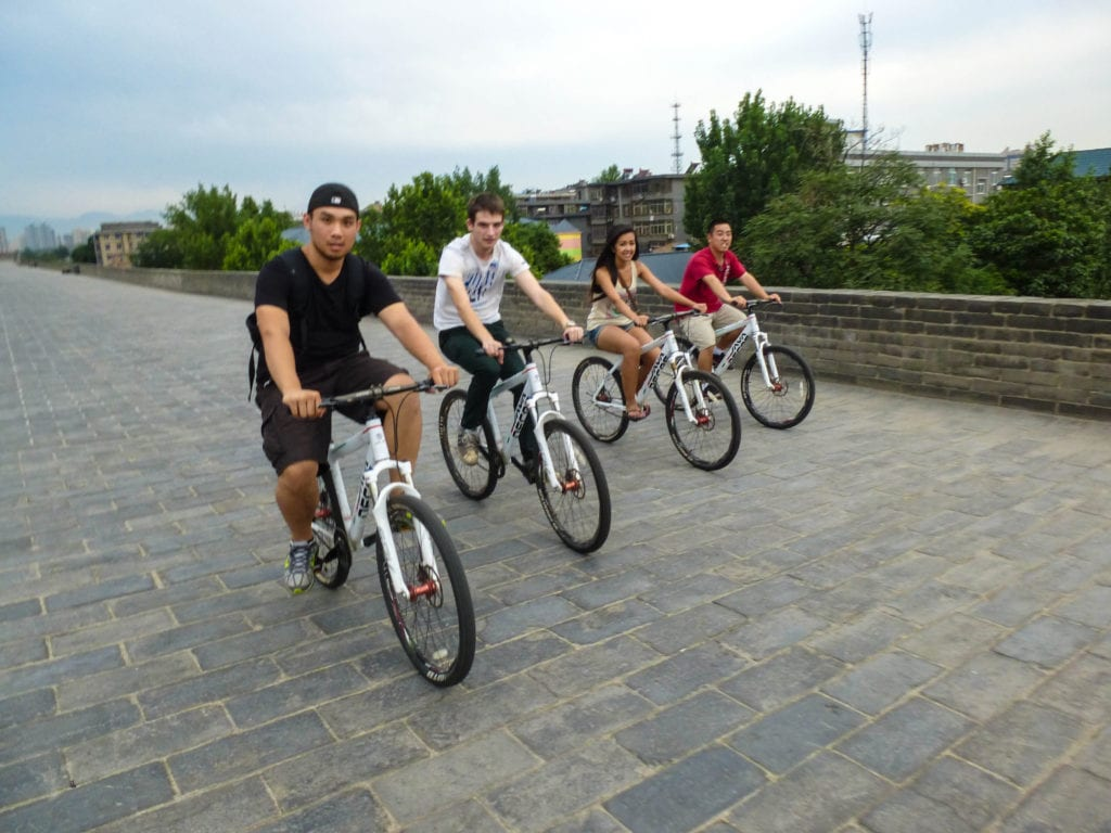 Cycling around Xian's Ancient wall