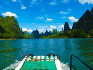 Rafting along the Li river, Guangxi
