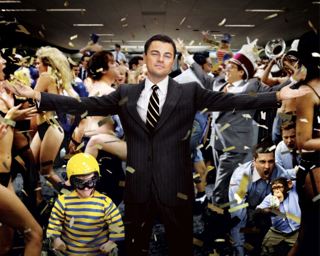 "Leonardo DiCaprio in ""The Wolf of Wall Street"" Paramount Pictures"